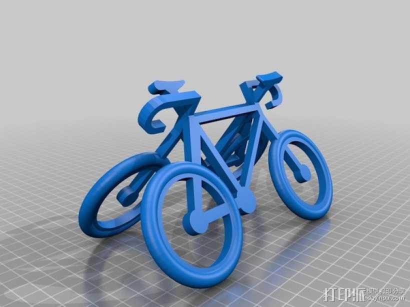 自行车 钥匙扣 3D打印模型渲染图
