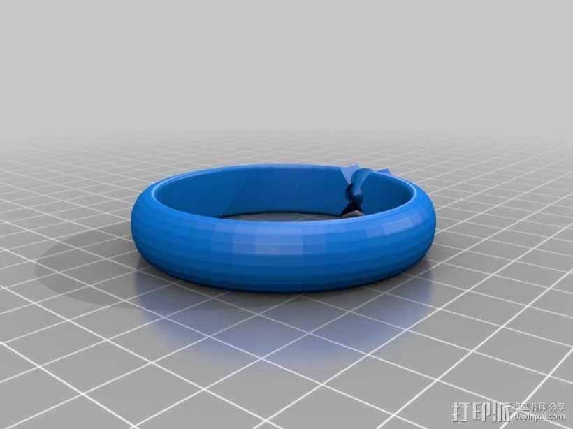 钻戒 指环 3D打印模型渲染图