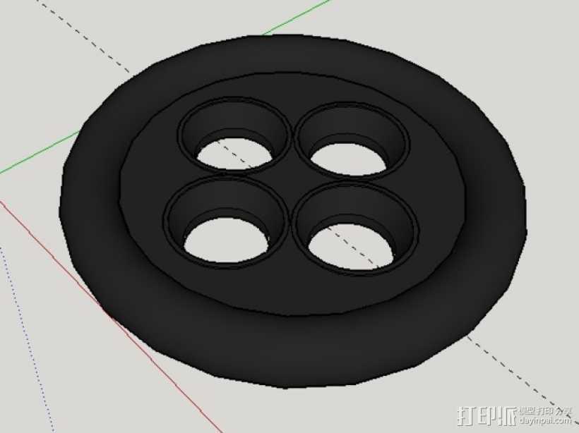 Coraline Cosplay纽扣 3D打印模型渲染图