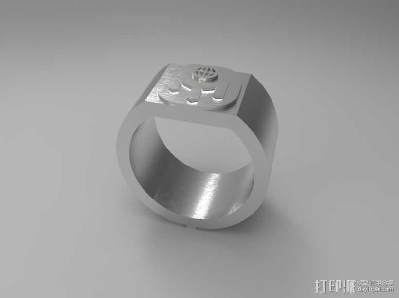 门萨戒指 3D打印模型渲染图