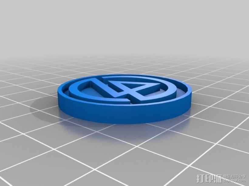 林肯公园LinkinPark 纪念币 3D打印模型渲染图
