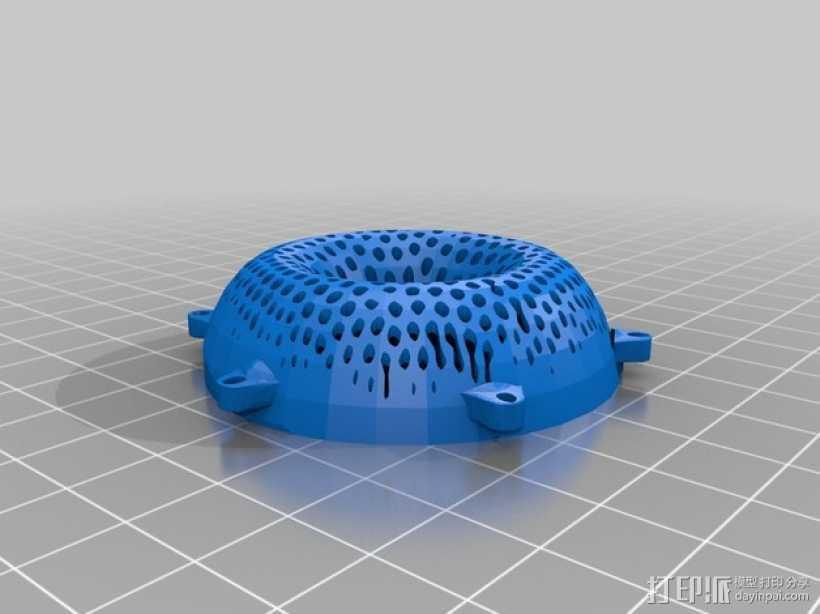 甜甜圈吊坠 3D打印模型渲染图