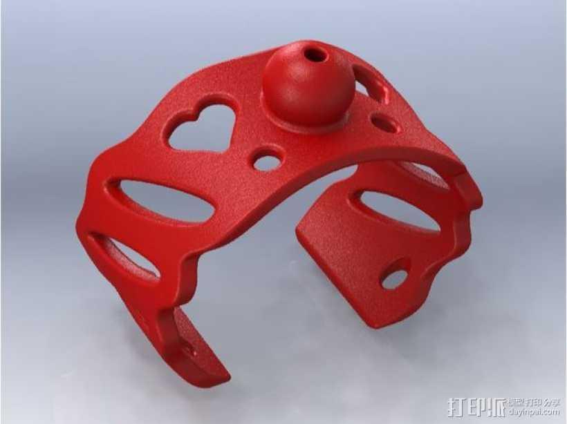 芳香海绵手镯 3D打印模型渲染图