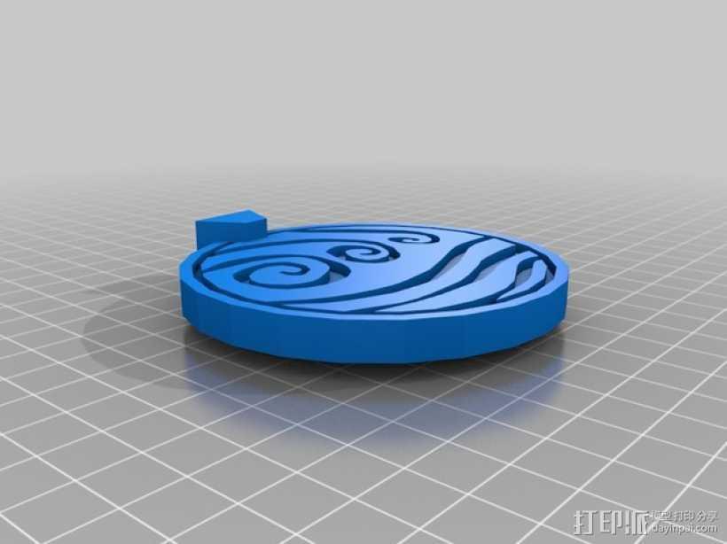 水善部落 项链吊坠 3D打印模型渲染图