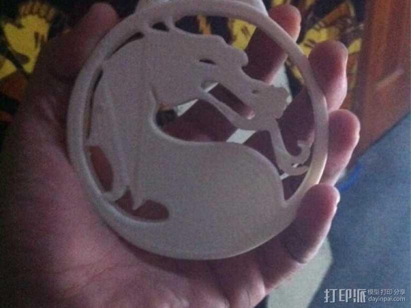 格斗之王 大奖章 3D打印模型渲染图