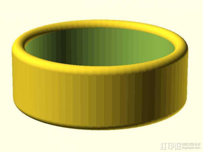 圆边戒指  3D打印模型渲染图