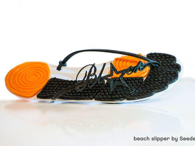 沙滩拖鞋  3D打印模型渲染图