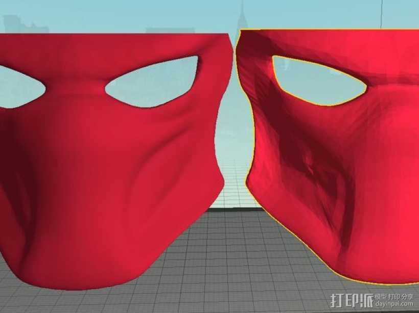 铁血战士 面具 3D打印模型渲染图