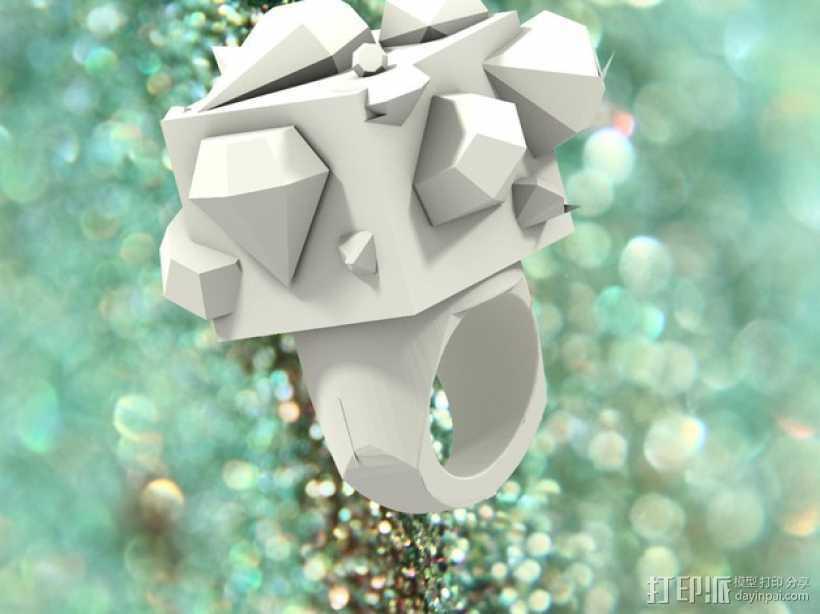Squimond戒指 3D打印模型渲染图