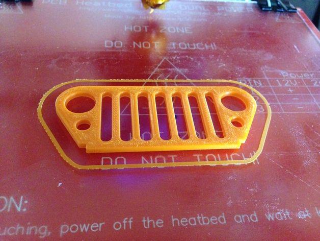 吉普烤架 钥匙扣 3D打印模型渲染图
