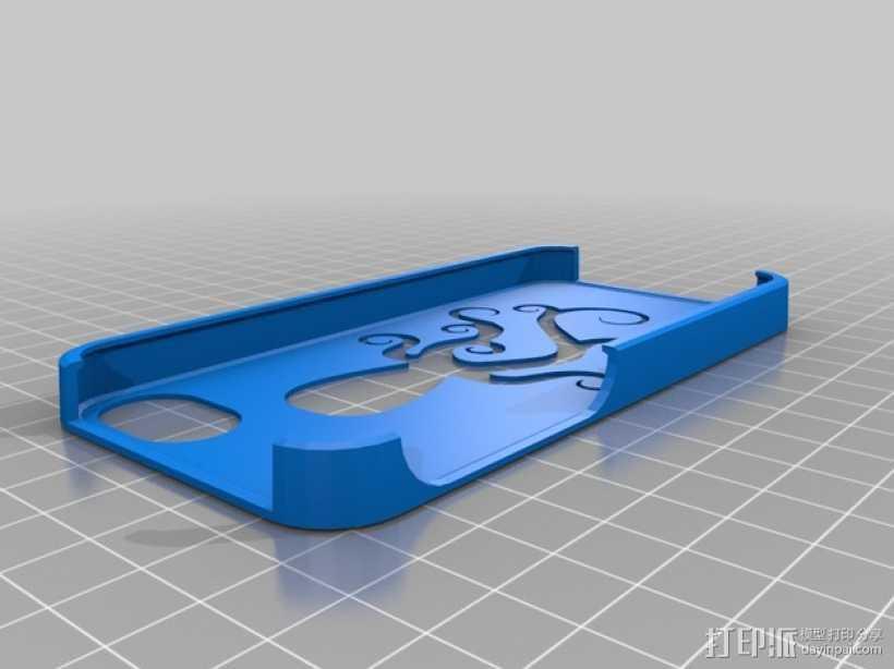 iPhone 5/5S/5C章鱼手机套 3D打印模型渲染图