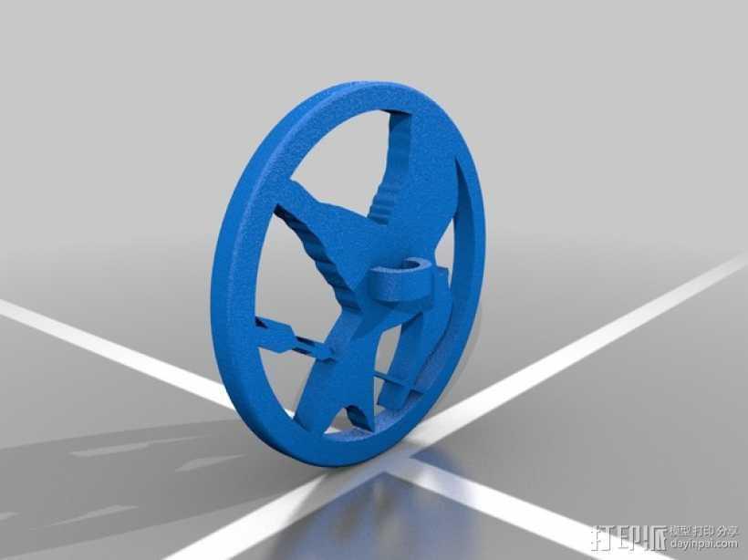 盾牌吊坠 3D打印模型渲染图