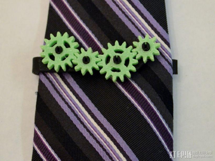 齿轮形领带夹 3D打印模型渲染图
