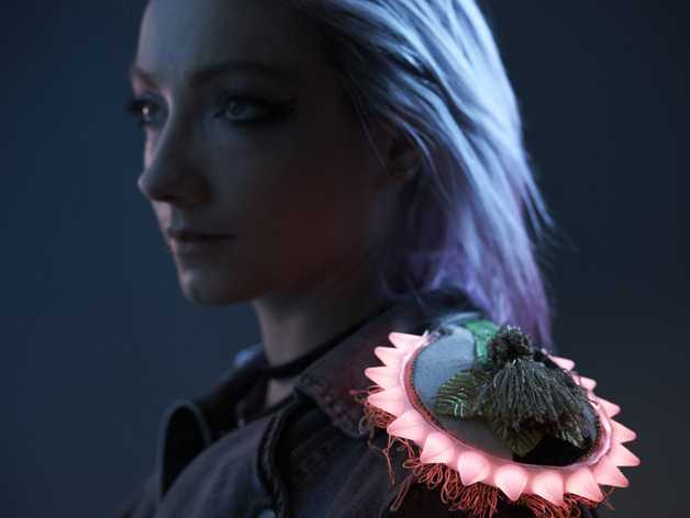 朋克风铆钉配饰 3D打印模型渲染图