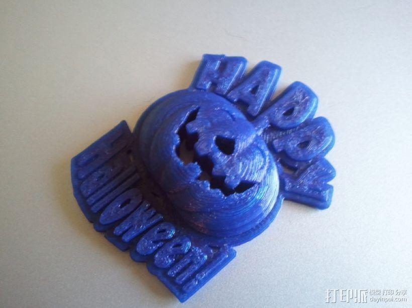 Happy Halloween 万圣节南瓜灯坠饰 3D打印模型渲染图