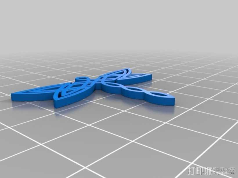 凯尔特蜻蜓 坠饰 3D打印模型渲染图
