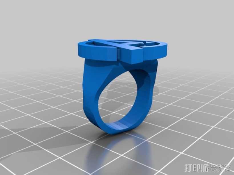 复仇者 戒指 3D打印模型渲染图