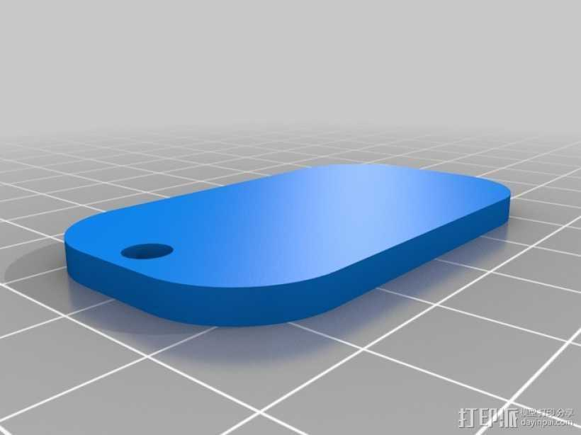 姓名标签牌 3D打印模型渲染图