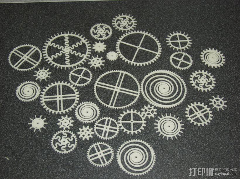装饰性齿轮 3D打印模型渲染图