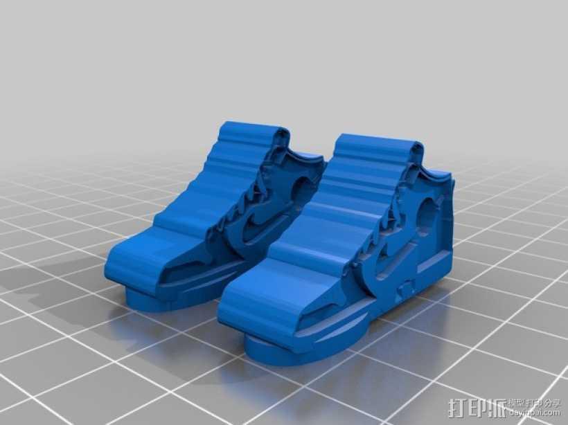 高帮鞋吊坠 3D打印模型渲染图
