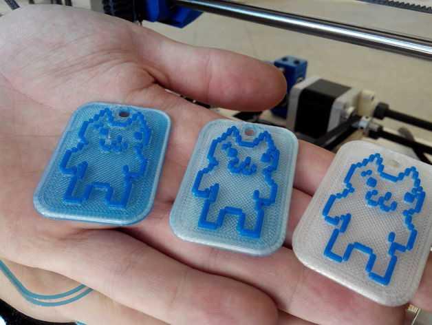 Mario猫咪 坠饰 3D打印模型渲染图