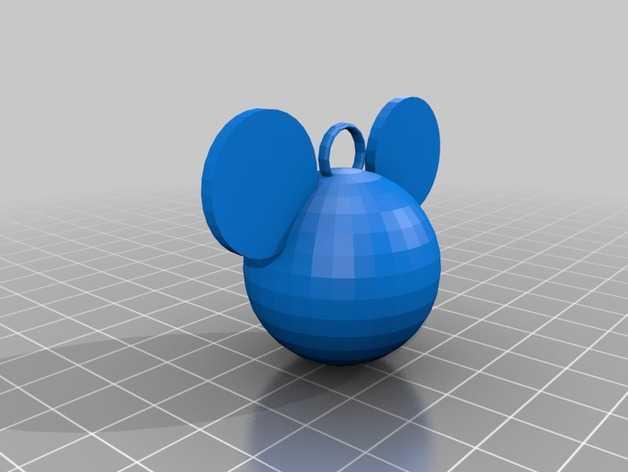 米老鼠坠饰 3D打印模型渲染图