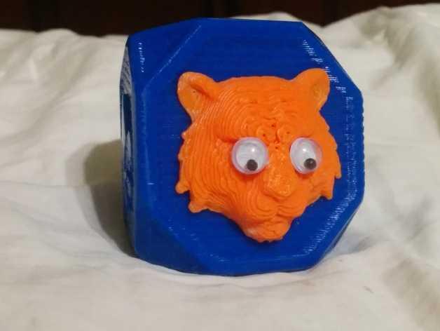 老虎 指环 3D打印模型渲染图