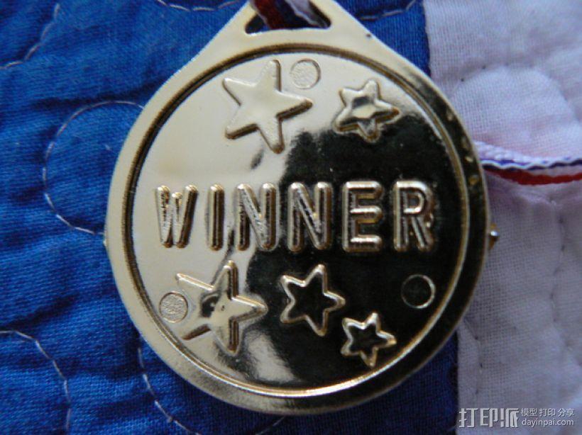 胜利者的徽章 3D打印模型渲染图