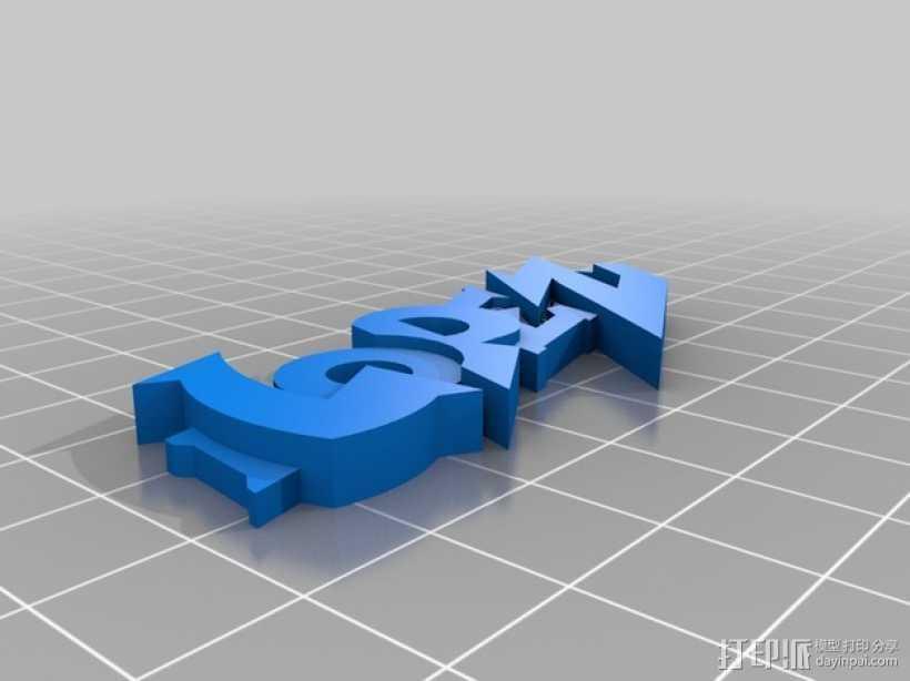 Lopez钥匙链 3D打印模型渲染图