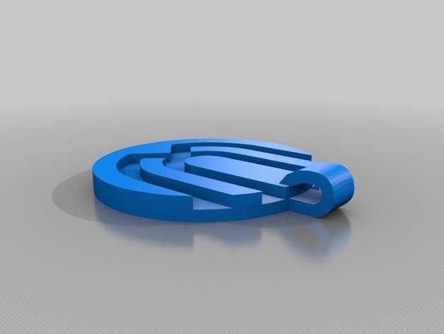 Uverworld 项链坠 3D打印模型渲染图