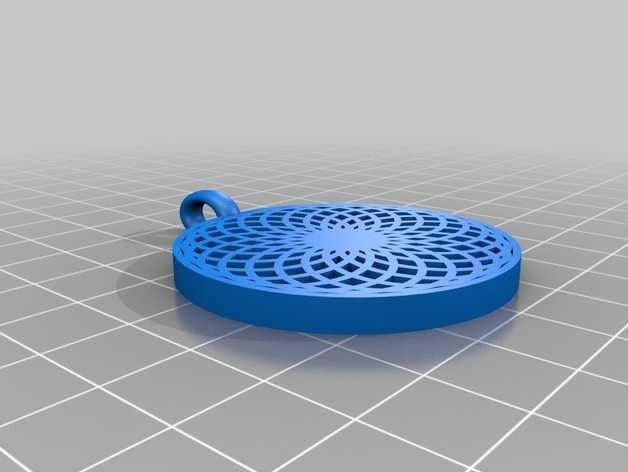 花形坠饰 3D打印模型渲染图