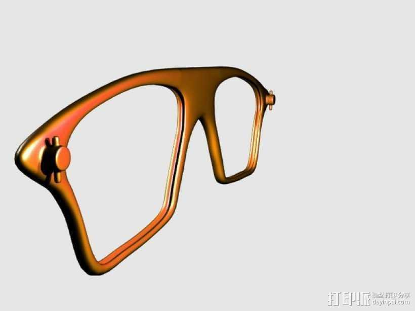 眼镜镜框 3D打印模型渲染图