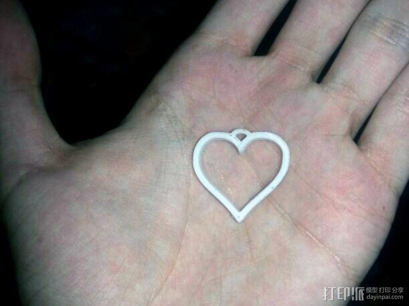 心形坠饰 3D打印模型渲染图