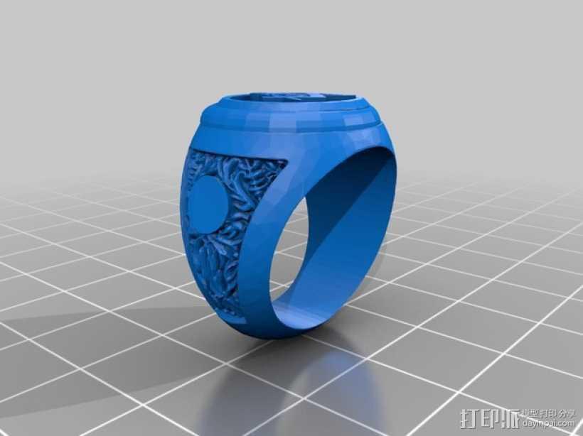 共济会指环 3D打印模型渲染图