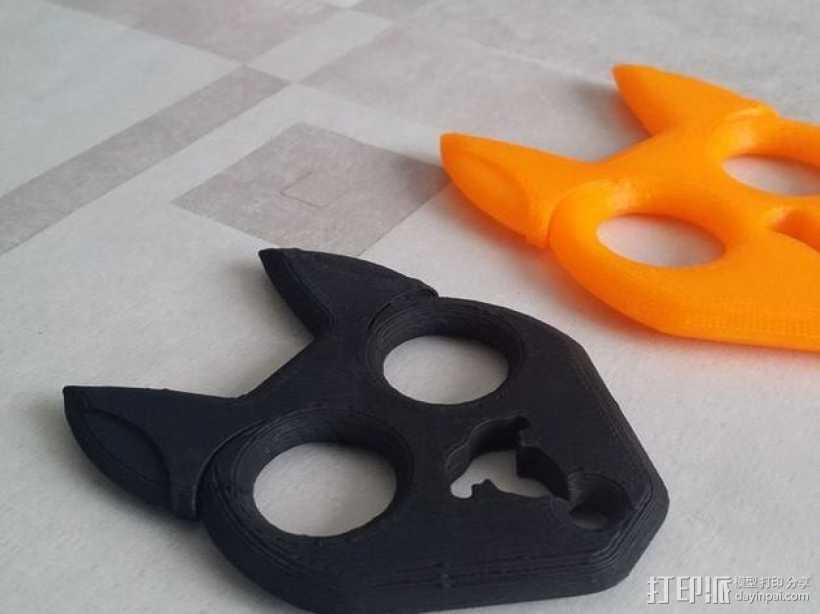 小黑猫 钥匙扣 3D打印模型渲染图