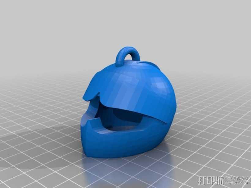 安全帽吊坠 3D打印模型渲染图