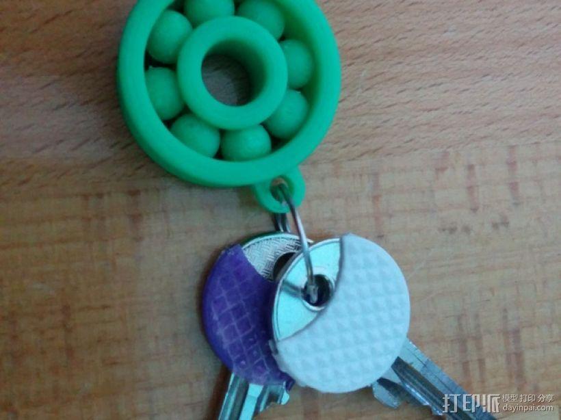 小轴承钥匙坠 3D打印模型渲染图