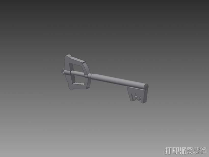 钥匙刃 键刃 3D打印模型渲染图