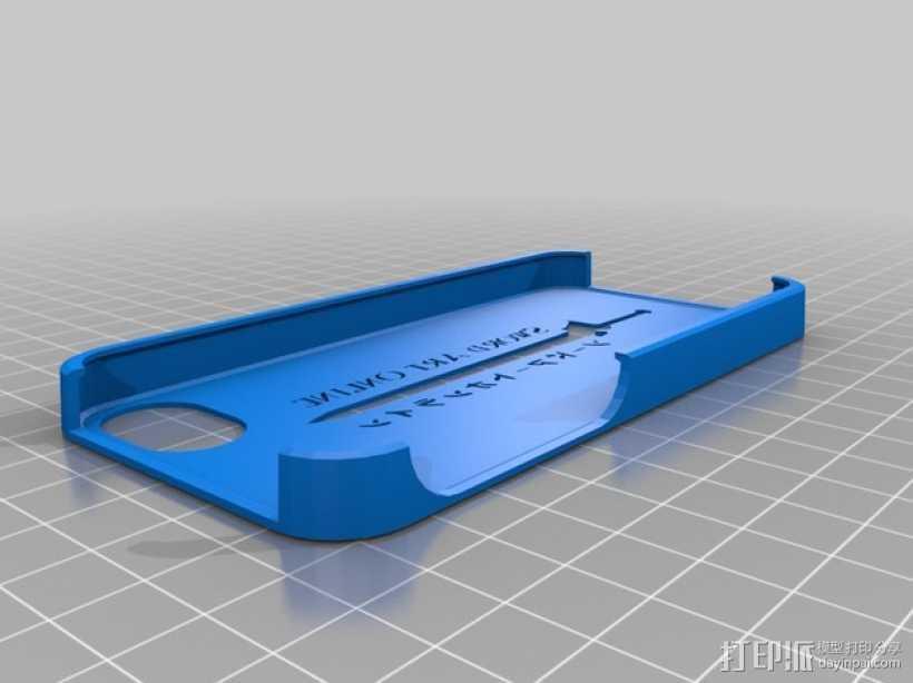 手机套 3D打印模型渲染图