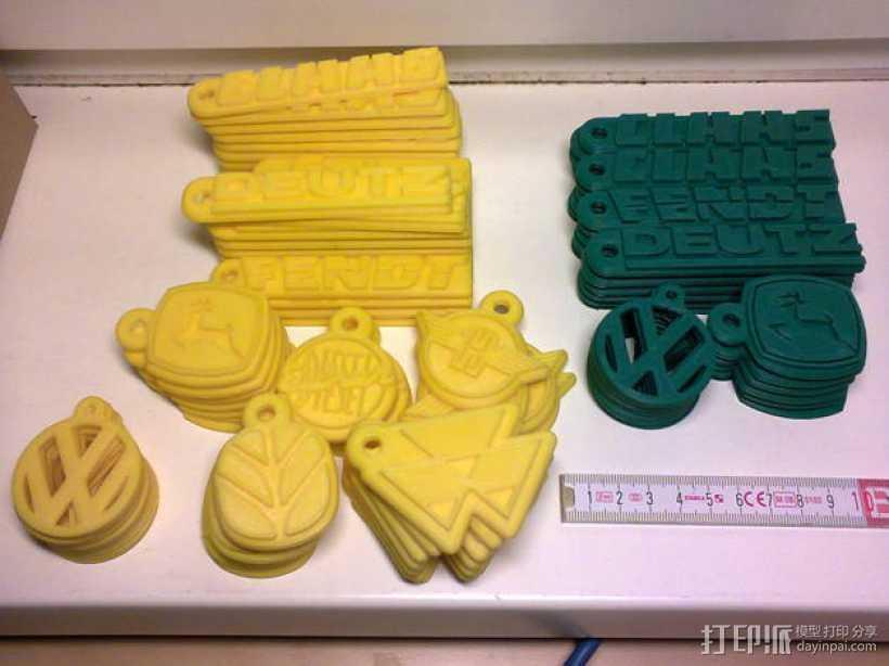 拖拉机 钥匙坠 3D打印模型渲染图