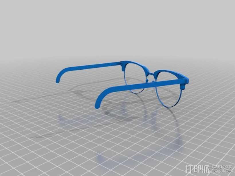 雷朋Ray-Ban太阳眼镜 3D打印模型渲染图