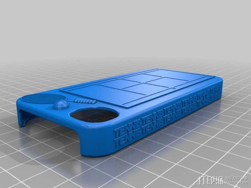 iPhone 4S 手机套 3D打印模型渲染图