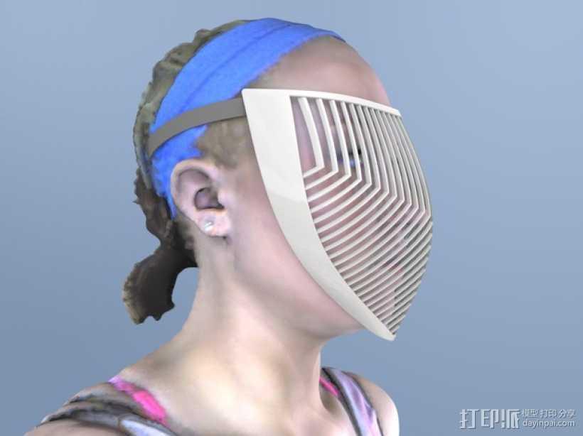 骑士面具 3D打印模型渲染图