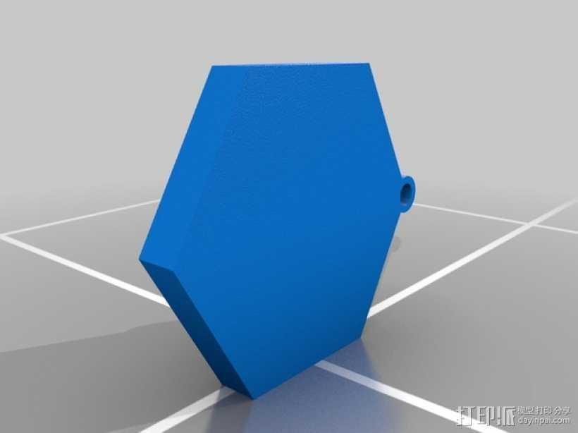 Ingress 徽章钥匙坠 3D打印模型渲染图