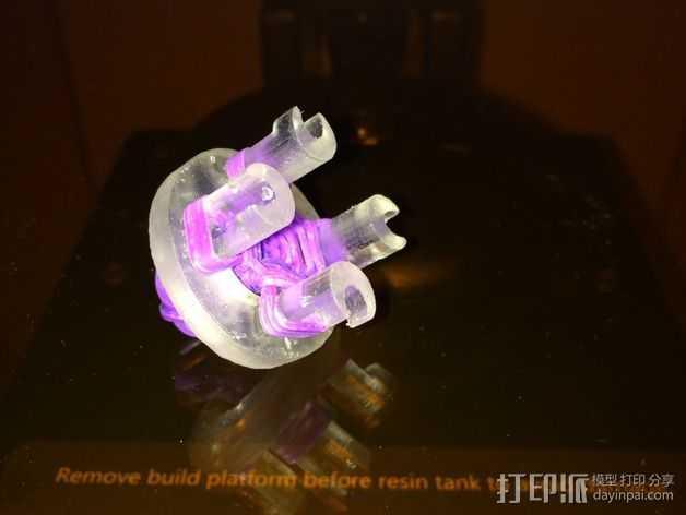 圆形手链编织器 3D打印模型渲染图