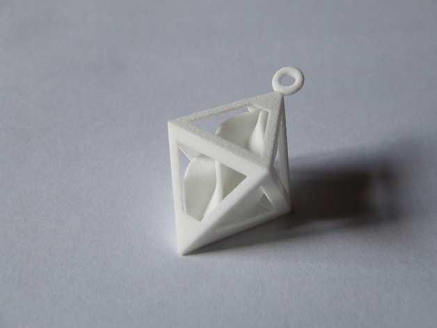 螺旋形吊坠 3D打印模型渲染图