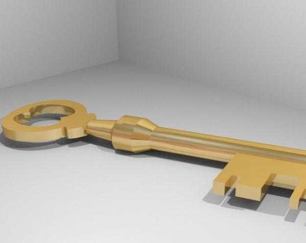 Mann Co. 钥匙 3D打印模型渲染图