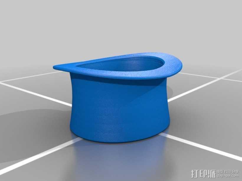 大礼帽 3D打印模型渲染图