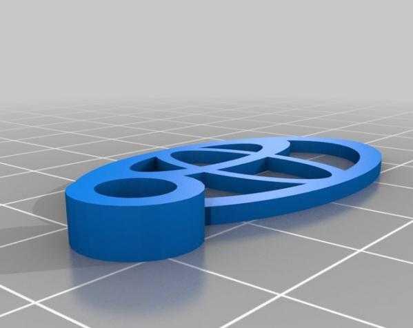 Toyota丰田汽车钥匙坠 3D打印模型渲染图