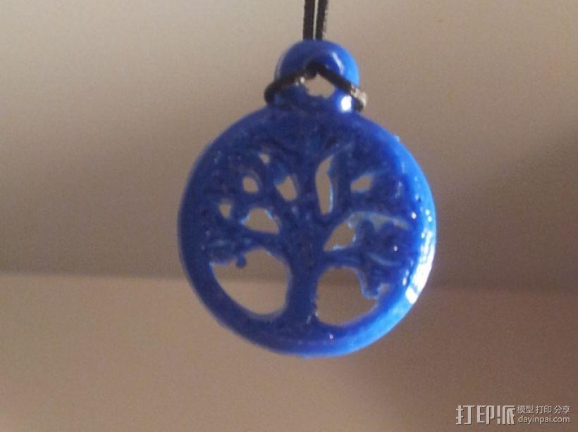 凯尔特生命之树 吊坠 3D打印模型渲染图